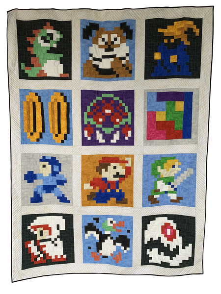 Retro Gaming Revival Quilt a Long - Assembly