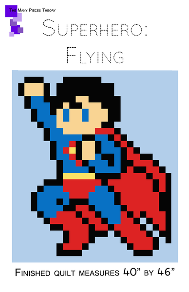 Flying Superhero Lap Quilt Pattern