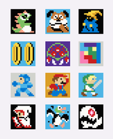 Retro Gaming Revival Quilt a Long Block 8 - Plumber Hero