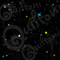 Galaxy fabric from Animals in Spaaace Collection 60 inches WIDE!