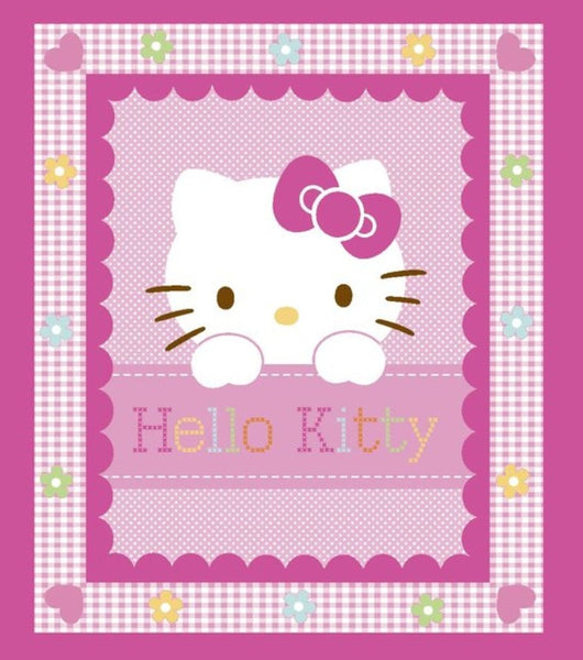 Hello Kitty Panel Quilt (2 designs to choose from)