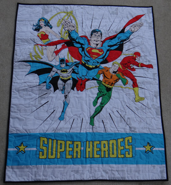 Justice League Panel Lap Quilt
