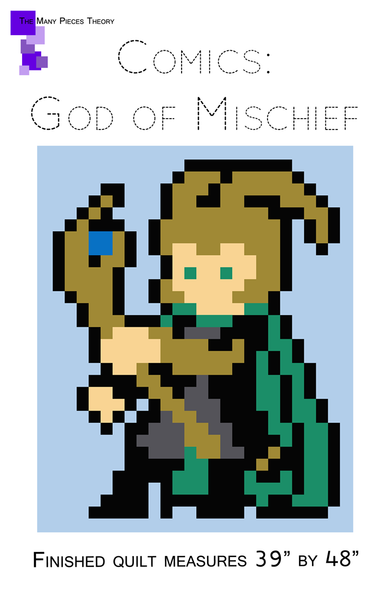 God of Mischief Lap Quilt Pattern