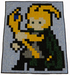 God of Mischief Lap Quilt