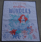 Little Mermaid Panel Lap Quilt