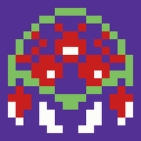 Retro Gaming Revival Quilt a Long Block 5 - Alien Parasite