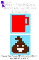 Poop and Coffee Minis - Blocks and Mug Rugs