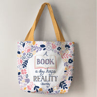 Literary Cut and Sew Tote Panel Fabric, Camelot
