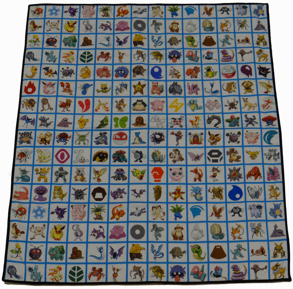 Pokemon Panel Lap Quilt (2 different choices!)