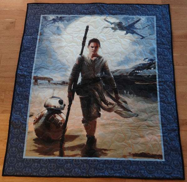 Star Wars Rey Panel Lap Quilt