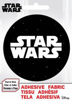 Star Wars - SW Logo- Adhesive Fabric 3 in/ 7.62 cm Badge