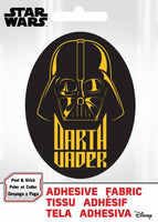 Star Wars - SW Darth Vader- Adhesive Fabric 3 in/ 7.62 cm Badge