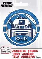 Star Wars - SW R2D2- Adhesive Fabric 3 in/ 7.62 cm Badge