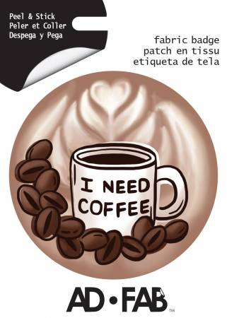 Sippin with Besties- Coffee- Adhesive Fabric 3 in/ 7.62 cm Badge