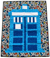 British Police Box Lap Quilt (2 different choices!)