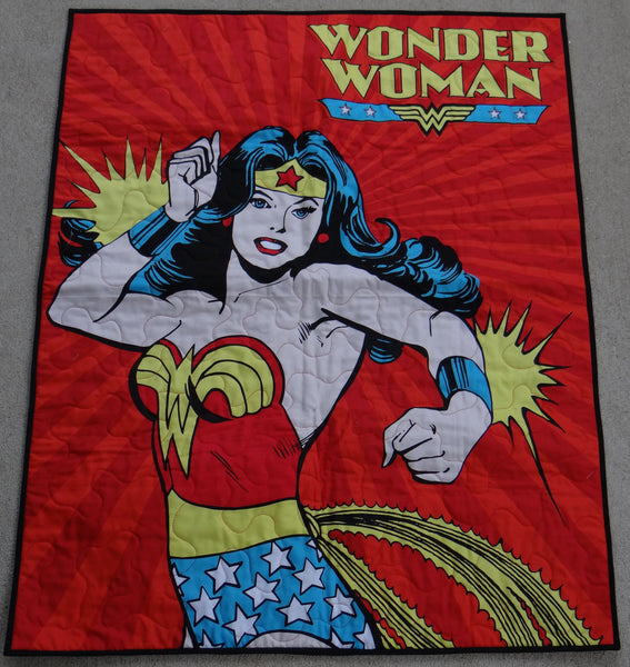Wonder Woman Panel Lap Quilt