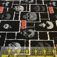 Walking Dead Black Zombies Fabric, Springs Creative