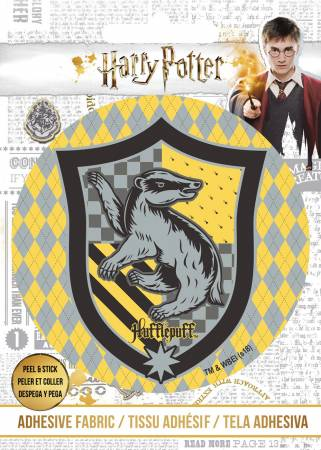 PREORDER Harry Potter - HP Hufflepuff Crest - Adhesive Fabric 3 in/ 7.62 cm Badge