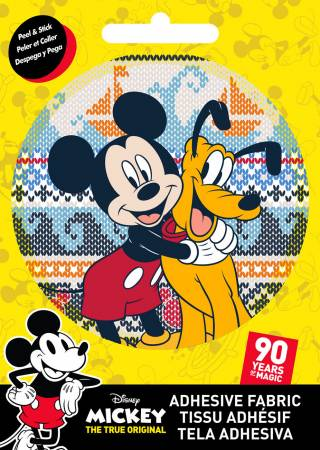 Disney - Mickey & Pluto - Adhesive Fabric 3 in/ 7.62 cm Badge