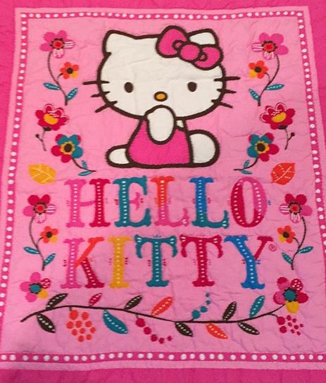 Hello Kitty Flowers Fabric Panel, Springs Creative