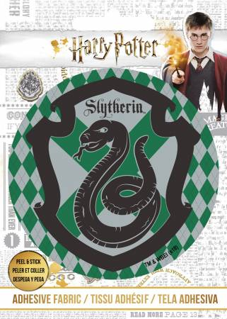 Harry Potter - HP Slytherin Crest - Adhesive Fabric 3 in/ 7.62 cm Badge