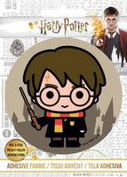 Harry Potter - HP Harry and Wand - Adhesive Fabric 3 in/ 7.62 cm Badge