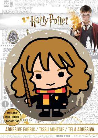 Harry Potter - HP Hermoine and Wand - Adhesive Fabric 3 in/ 7.62 cm Badge