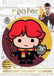 Harry Potter - HP Ron and Wand - Adhesive Fabric 3 in/ 7.62 cm Badge