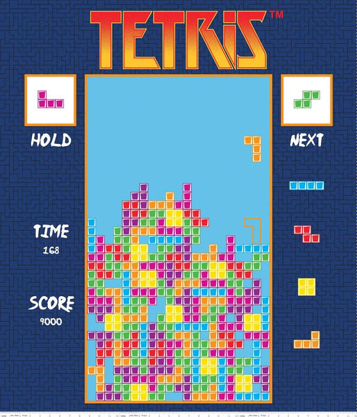 Tetris Fabric Panel, Riley Blake