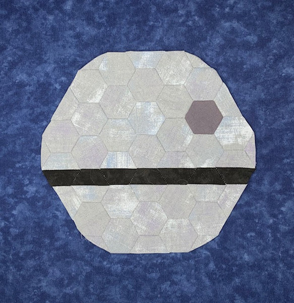 English Paper Piecing: That's No Moon Full Kit (Pattern Included)