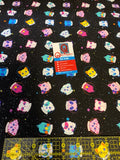 Heads in Spaaace fabric from Animals in Spaaace Collection