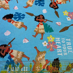 Moana Disney Fabric, Springs Creative