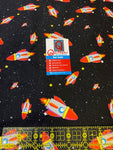 Rockets in Spaaace fabric from Animals in Spaaace Collection