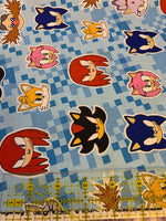Sonic the Hedgehog Fabric, Robert Kaufman