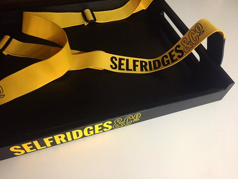 Selfridges Usherette Tray with branded straps