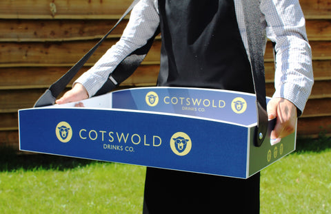 Large Usherette Tray With Bespoke Logo