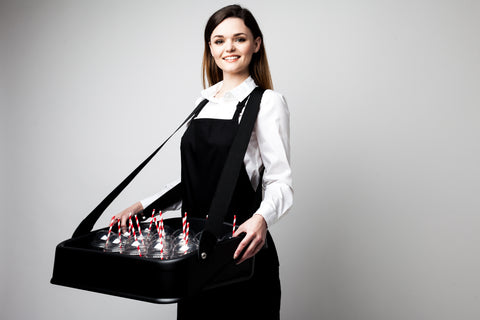 Deluxe Usherette Tray - Black or White