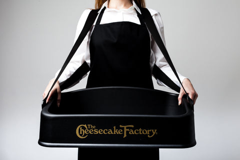 Deluxe Usherette Tray With Logo - Black or White