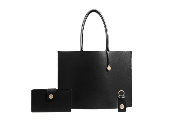 Hermine Tote Bag - Black