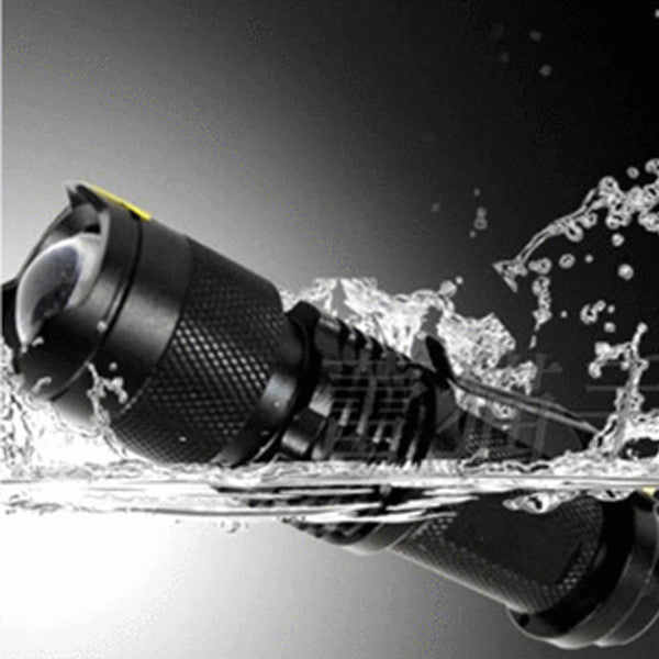 2000LM Waterproof Adjustable Focus Tactical LED Flashlight