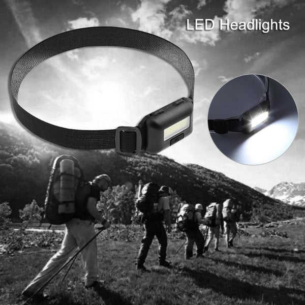 Mini 3 Modes Waterproof COB LED Flashlight outdoors Headlight Headlamp head light lamp Torch Lanterna with Headband Use