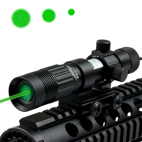 Green Laser Designator Flashlight Sight Illuminator Adjustable w/Weaver Mount