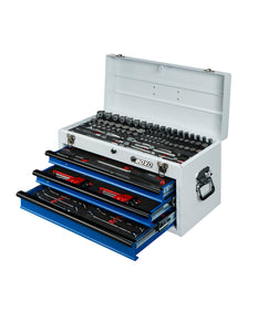 BOXO 133 Pc Metric Tool Set with 3 Drawer Carry Box