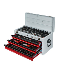 BOXO 117 Pc SAE Tool Set with 3 Drawer Carry Box
