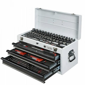 BOXO 185 Piece Metric and SAE Tool Set with 3 Drawer Carry Box - Roost Factory Hoosier Offroad USA