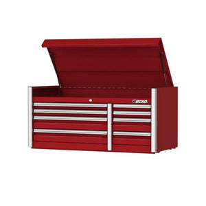 "BOXO 54"" 8 Drawer Top Chest (Gloss Red) - Roost Factory Hoosier Offroad USA"