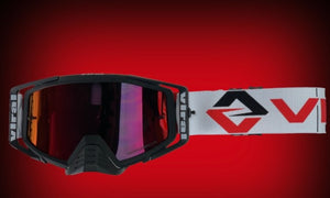 Factory Series Goggle Kit - Black, Black, White/Red - Roost Factory Hoosier Offroad USA