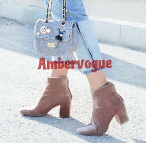 8858caceb8d ZARA NEW NUDE PINK VELVET ANKLE BOOTS SIZE UK 3 EURO 36