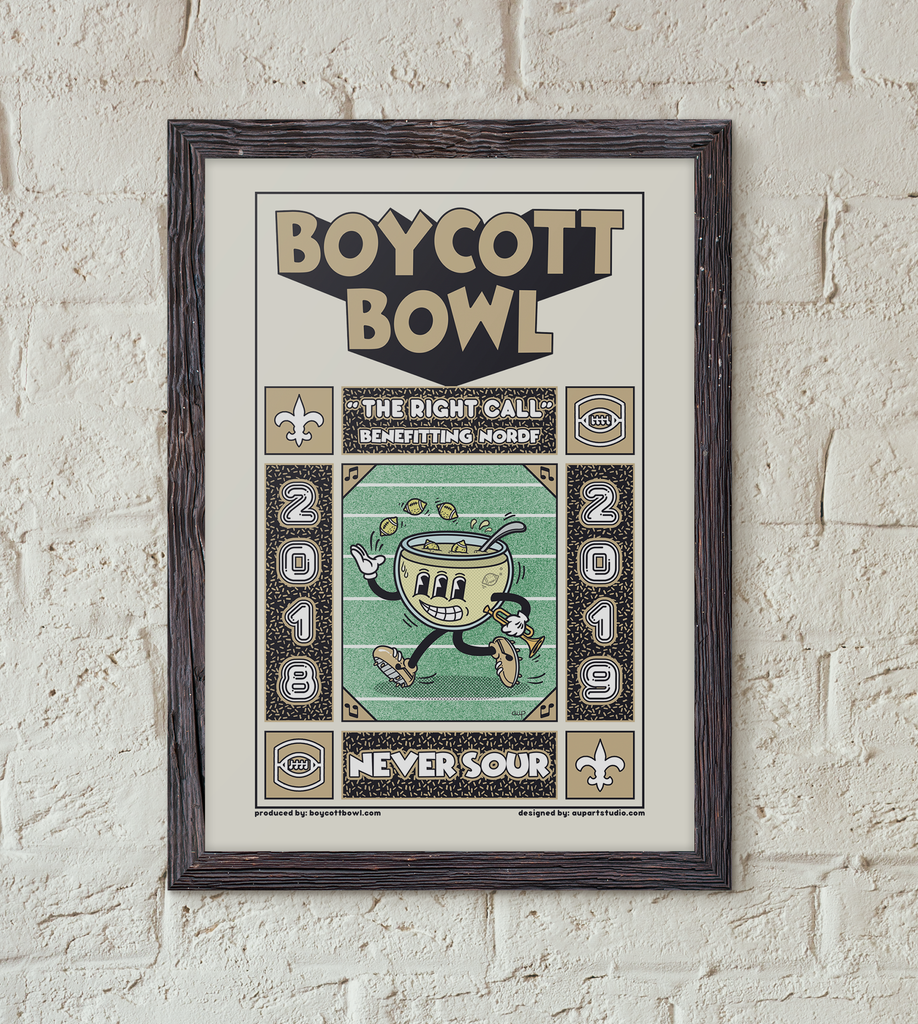 Official Boycott Bowl Poster