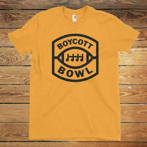 Official Boycott Bowl Shirt - Black on Gold